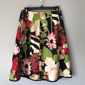 Talbots Silk Floral Skirt SZ 4